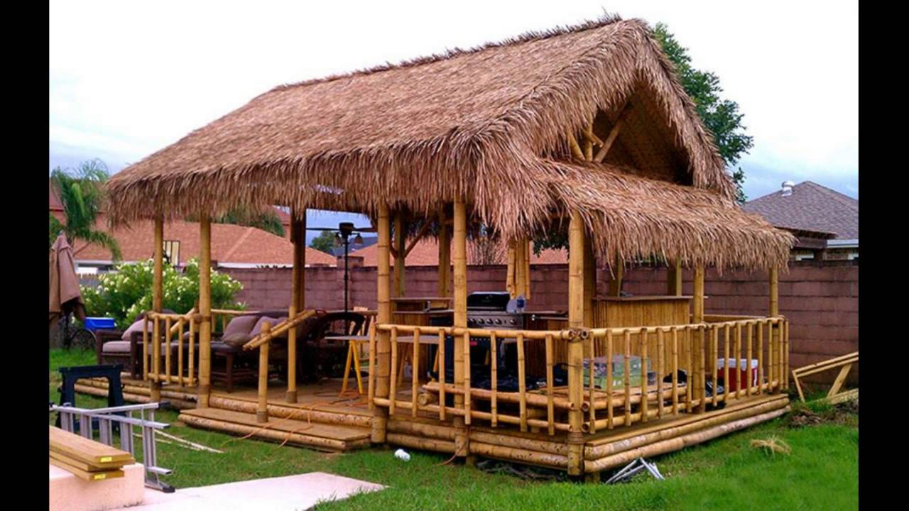 Bamboo House Idea Simple Bamboo House Design Youtube