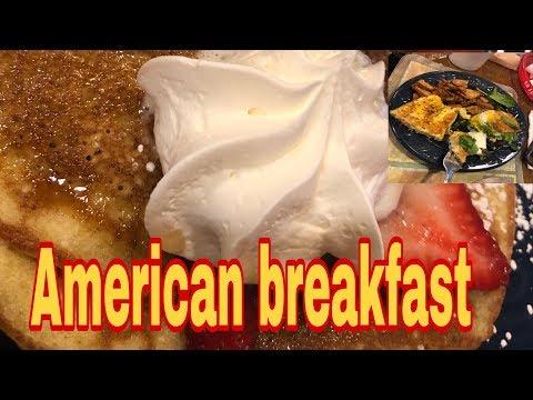 AMERICAN BREAKFAST MUKBANG IN  SATURDAY MORNING CAFE BALTIMORE