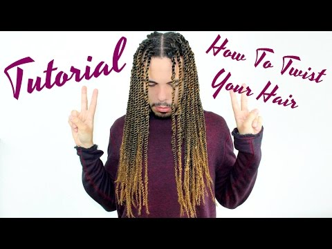 Tutorial How To Twist Hair With Extensions No Knots Senegalese Senegal Marley Havana Twists DIY