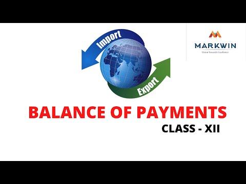 ECONOMICS - BALANCE OF PAYMENTS - (CLASS 12)