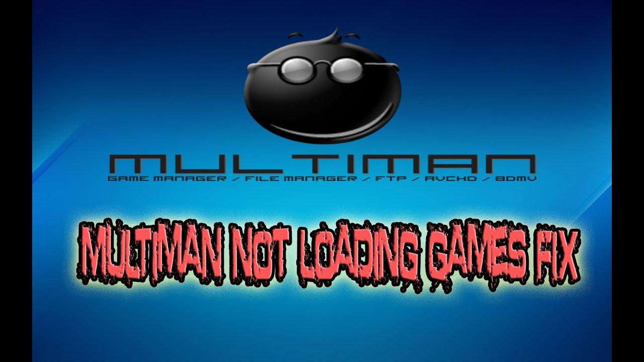 {CFW/TUT} How to fix Multiman not loading Games