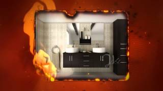 "59"" Phoenix Double Vessel Sink Wall Mounted Modern Bathroom Vanity Furniture Cabinet"
