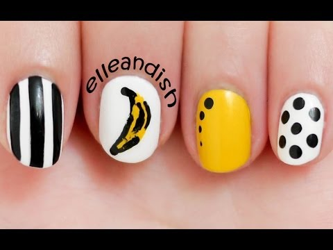 Easy Andy Warhol Banana Inspired Nails