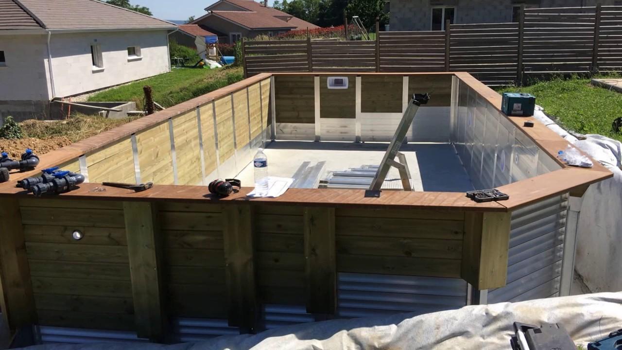 montage piscine acdr alu et bois youtube. Black Bedroom Furniture Sets. Home Design Ideas