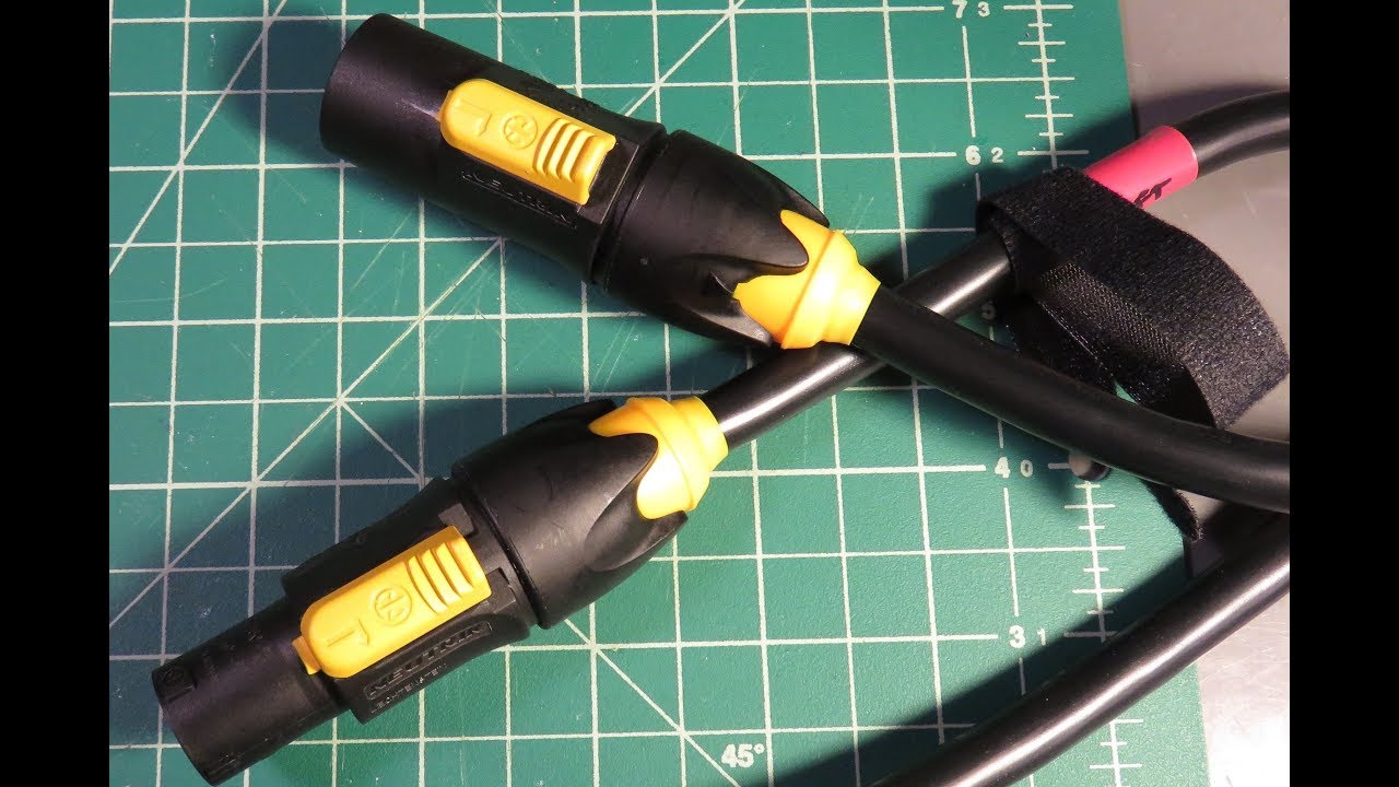 Neutrik PowerCON TRUE1 - How to install male and female cable ...