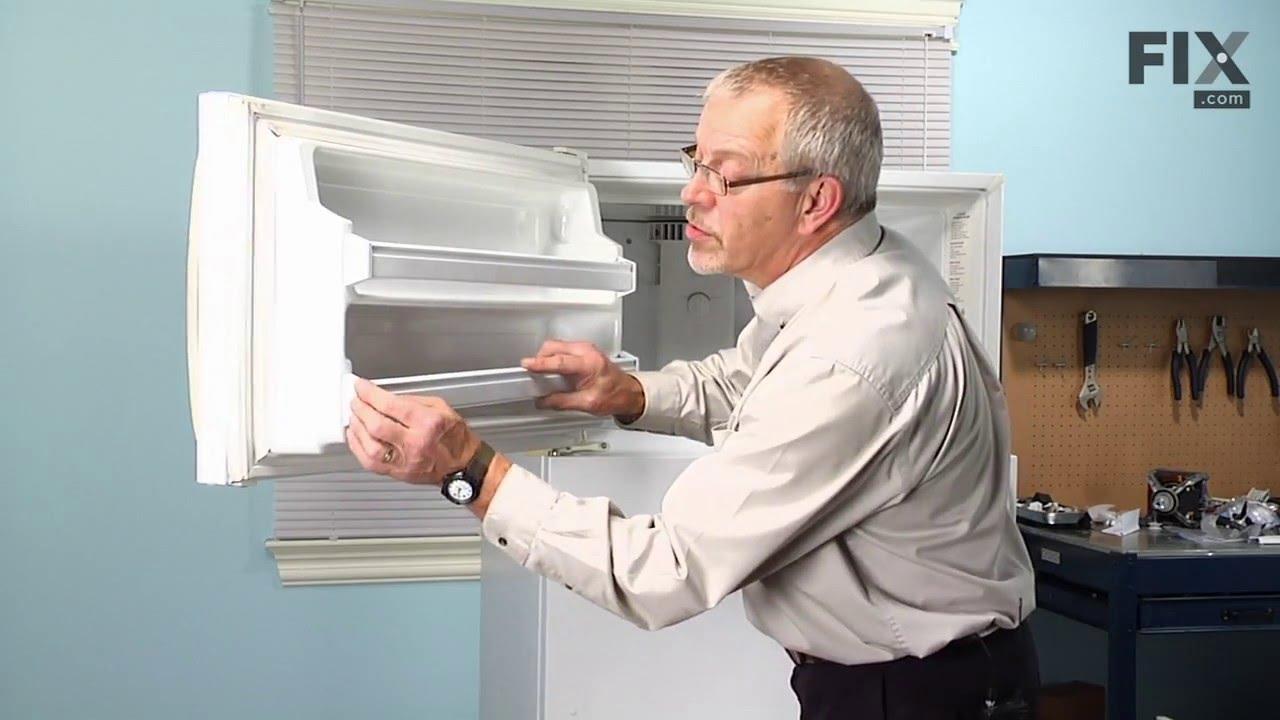 Frigidaire Refrigerator Repair U2013 How To Replace The Refrigerator Door Shelf  Retainer Bar