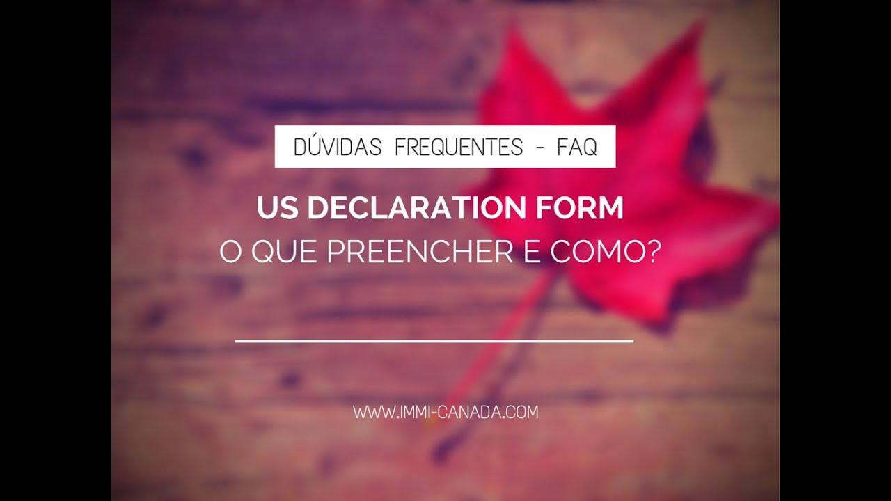 Customs Declaration Form - USA - Como preencher? - YouTube