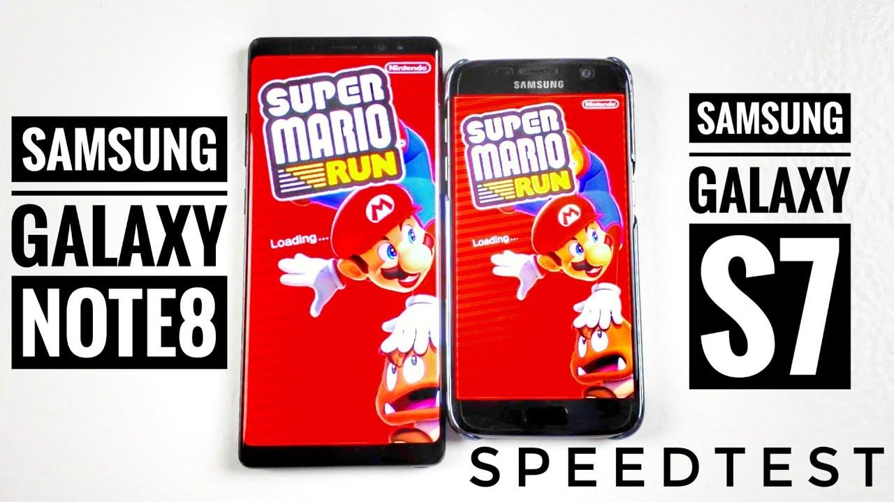 Porównanie Samsung Galaxy Note8 vs Galaxy S7 SpeedTest   ForumWiedzy