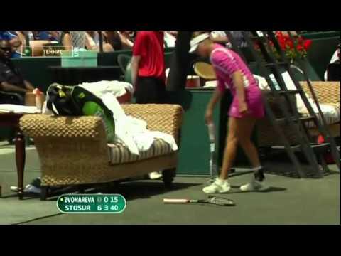 Best racquet smash ever -) Zvonareva in Charleston (vs. Stosur)