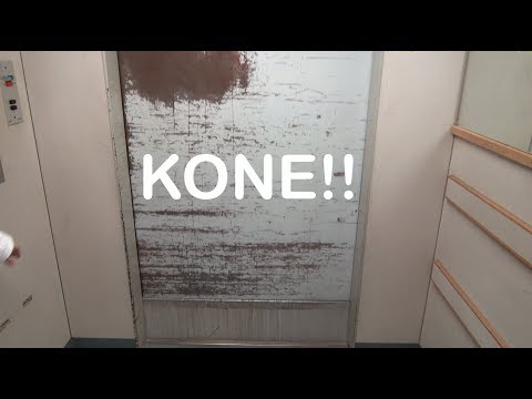 Vintage 1965 KONE Traction elevator at Meilahti Hospital Helsinki Finland