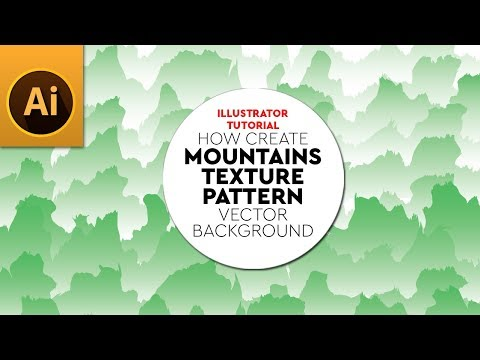 Create Vector MOUNTAIN TEXTURE Pattern Background in Adobe Illustrator thumbnail