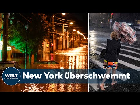 HURRIKAN 'IDA' TRIFFT NEW YORK: Rekord-Regenfälle überfluten New Yorker U-Bahn