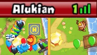 1 Life Clutch! NO Upgrading Challenge - Insanely Close Games (Bloons TD Battles)