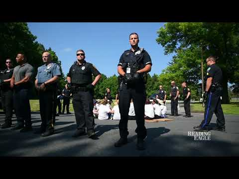 Protesters arrested outside Berks County Residential Center