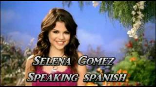 Selena gomez speaking spanish ...