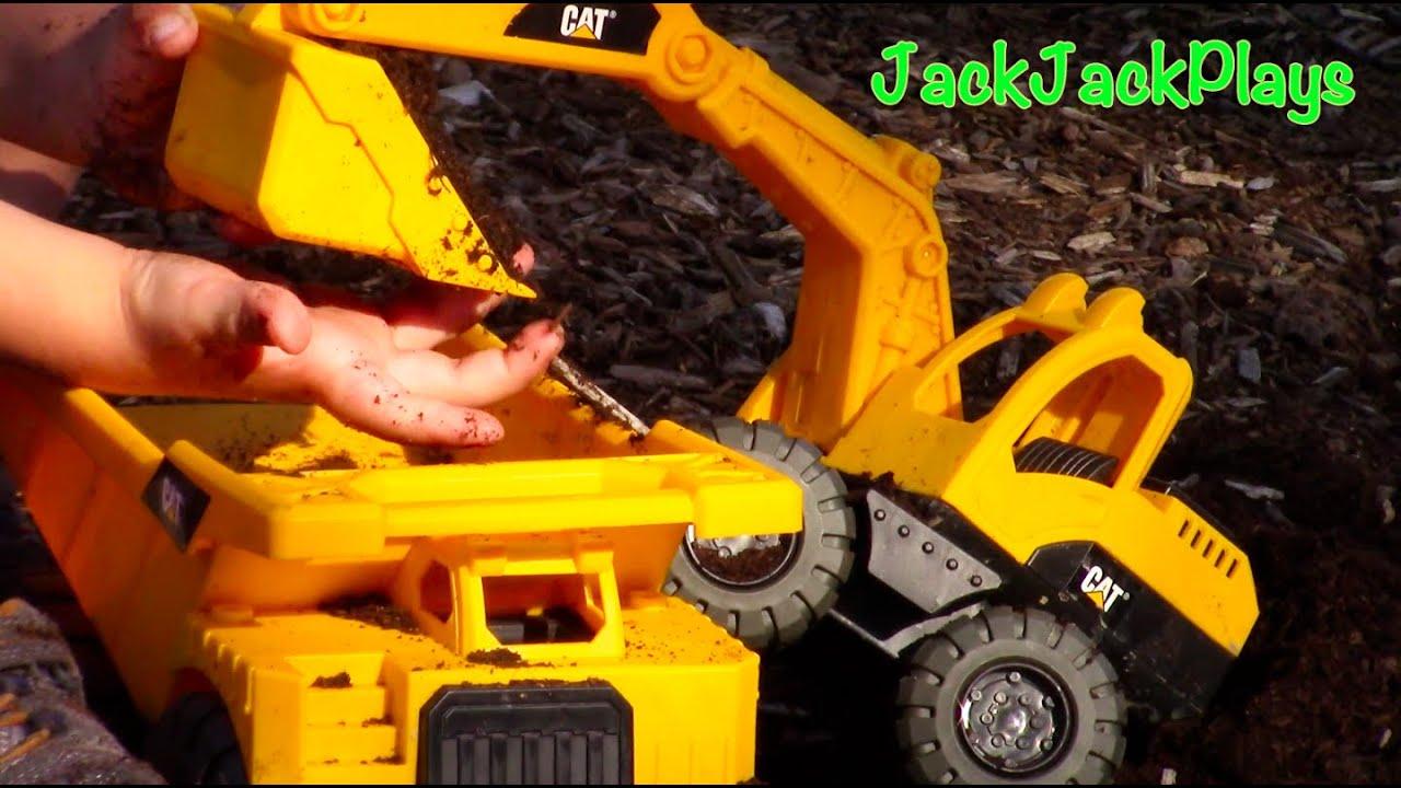 construction trucks for children tonka toy excavator dump truck
