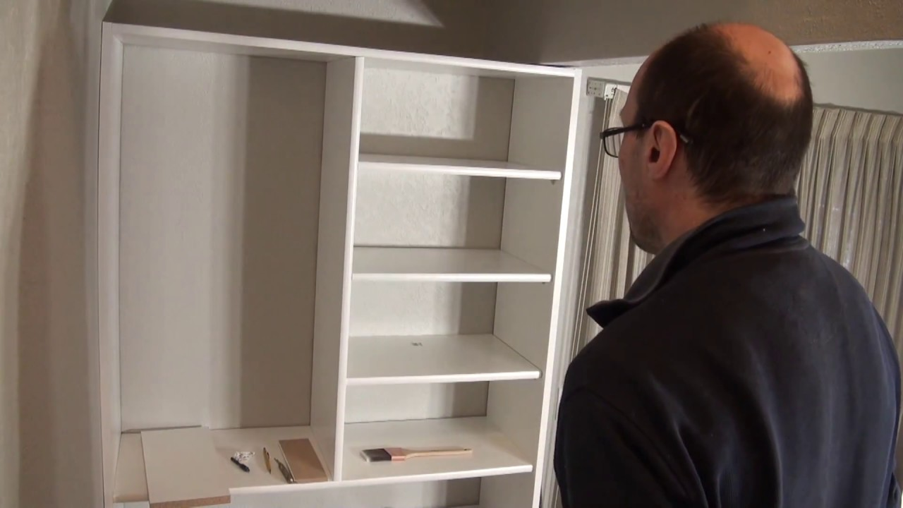 DIY Coat/Shoe Closet. Melamine White Shelf Board. Шкаф в прихожую