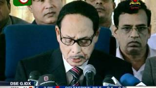 Jatiya Party chairman  Hussain Mohammad  Ershad Press Conference on  Tipaimukh Badh 08 12 2011
