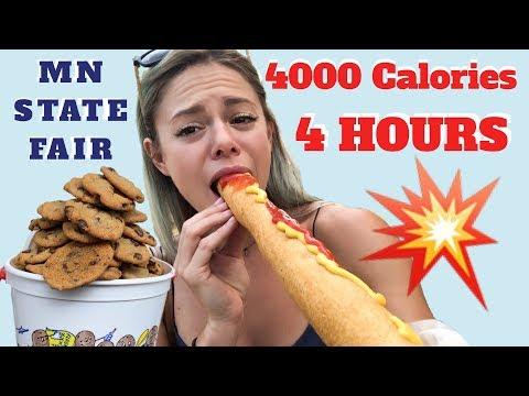 2018 MN State Fair Food Calorie Challenge + Mukbang!