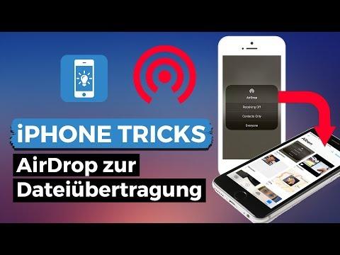 Dateien mit iPhone per AirDrop übertragen
