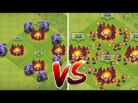 LVL7 GOLEM vs. LVL 6 VALKYRIE!!