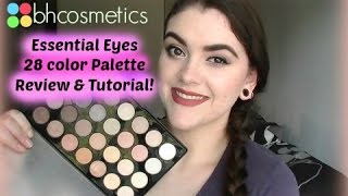 bh cosmetics essential eyes 28 color palette review and tutorial