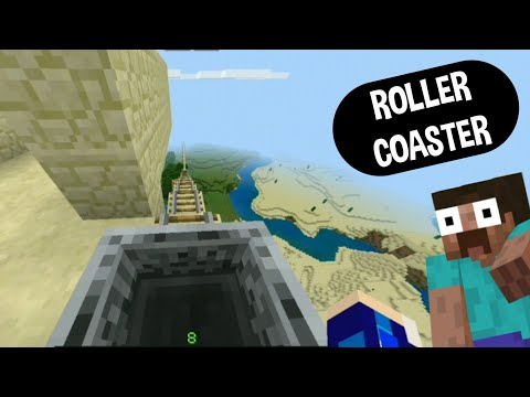 Roller Coaster in Minecraft || so much fun.....