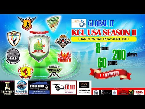 KCL USA SEASON 2 - FINAL-FASC PA vs BURGEN TIGERS NJ-  UNITECH LIVE TV-
