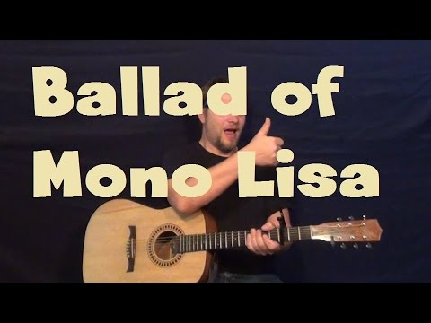 Ballad of Mona Lisa (Panic! At The Disco) Easy Strum Guitar Lesson ...