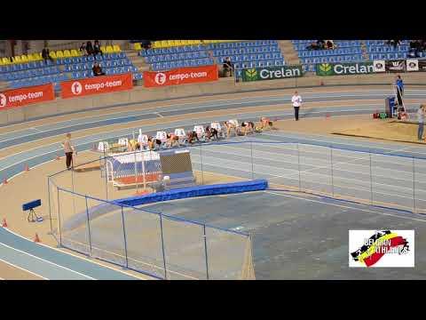 Belgian athletics U16 indoor championships 60m women Final