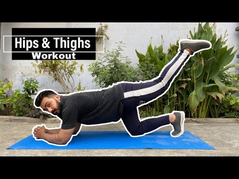 HIPS and THIGHS Workout at HOME for FAT LOSS – MEN & WOMEN