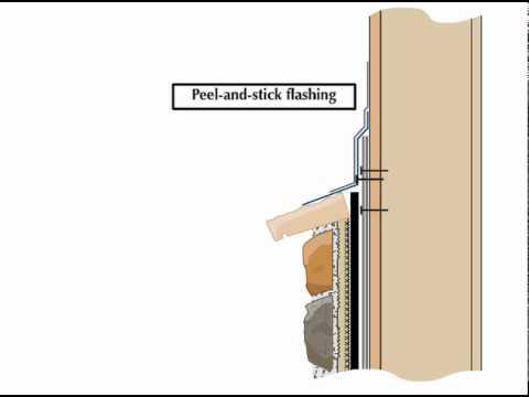 Thin Veneer Stone Installation Transition To Stucco