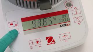 OHAUS Moisture Analyzers MB23, MB25 and MB27: Features (EN)