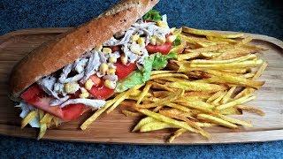 ÖĞRENCİ YEMEKLERİ - Öğrenciler İçin Tavuklu Patatesli Sandviç - Sandwich For Students - Bizim Terek