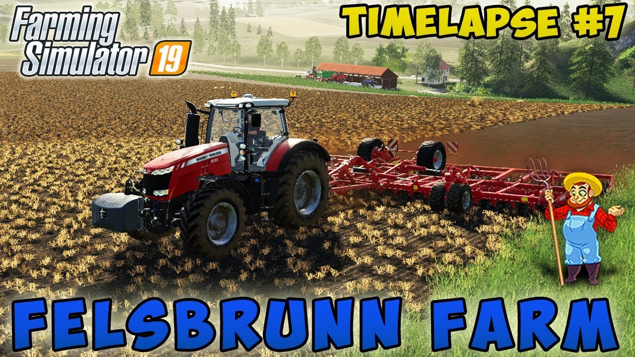 Farming simulator 19 | Felsbrunn Farm | Timelapse #07 | Sell straw bales, field cultivation