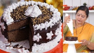 चॉकोलेट केक - Chocolate Cake in Pressure Cooker By Archana - Chocolate Cake in Marathi