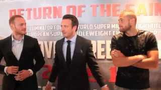 GEORGE GROVES v CHRISTOPHER REBRASSE - HEAD TO HEAD @ PRESS CONFERENCE / RETURN OF THE SAINT