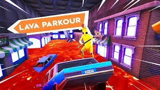 *NEW* The Floor is Lava Parkour (Fortnite The Floor is Lava Tribute)