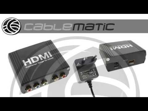 Conversor RGB YPbPr Con Audio A HDMI (5 RCA A 1 HDMI) Distribuido Por CABLEMATIC ®