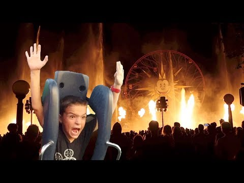 🎢 SAVAGE SEVEN YEAR OLD CONQUERS CALIFORNIA SCREAMIN' ADVENTURE ROLLER COASTER! 🔥