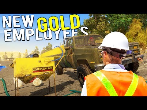 Our NEW GOLD MINING EMPLOYEES! BIGGEST GOLD HAUL YET! - Gold Rush Full Release Gameplay