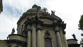 Домініканський собор Львів / Dominican Church Lviv(Домініканський собор (нині - церква Пресвятої Євхаристії) у Львові, зведений у 1749 році. Храм знаходиться..., 2015-05-12T10:42:36.000Z)