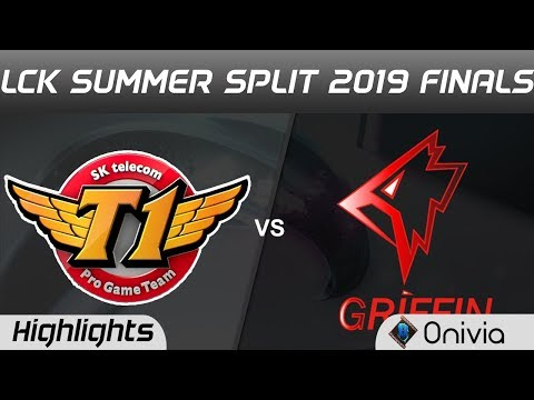 SKT Vs GRF Highlights Game 2 LCK Summer 2019 Finals SK Telecom T1 Vs Griffin Highlights By Onivia