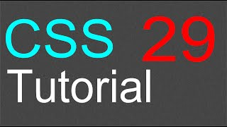 css tutorial for beginners 29 special effects