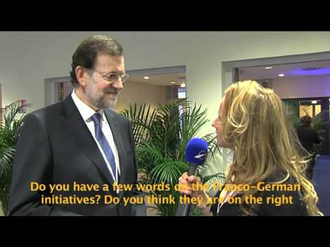 Interview with PM-elect Mariano Rajoy at the EPP Congress in Marseille, France