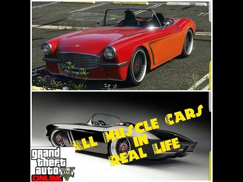 GTA 5 ONLINE : ALL MUSCLE CARS AND REAL LIFE COUNTERPARTS