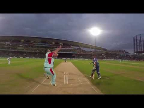 GoPro: Darren Gough bowls Graeme Smith at Cricket for Heroes