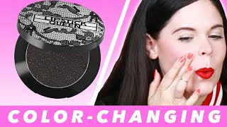 We Tried Black Color-Changing Blush