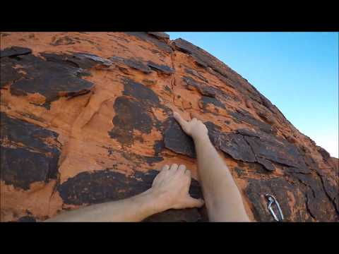 "Red Rock Canyon National Park - Hike to ""Panty Wall"" - Lead Climb of ""Boxer Rebellion (5.8)"