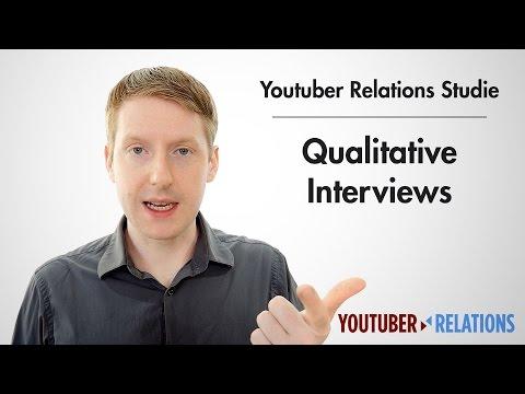 Youtuber Relations Studie - Teil 10: Qualitative Interviews